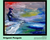 Penguin Painting, Prints & Cards