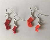 Origami Christmas Stocking Jewelry
