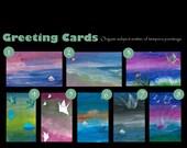Individual Greeting Cards (Tempera)