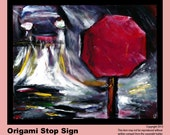 Stop Sign Painting, Prints & Cards