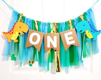 One Birthday High Chair Banner ONE High Chair Banner High Chair Banner Black and White High Chair Banner ONE Banner