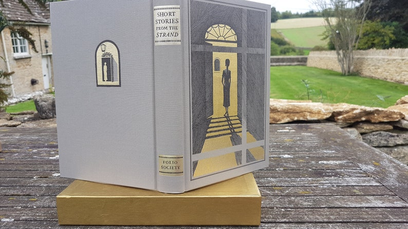 Short stories from the Strand selected by Geraldine Beare, Folio Society,  1992  fine decorative bindings