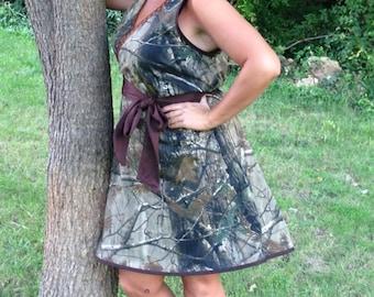 Women's camo dress, misses, plus size