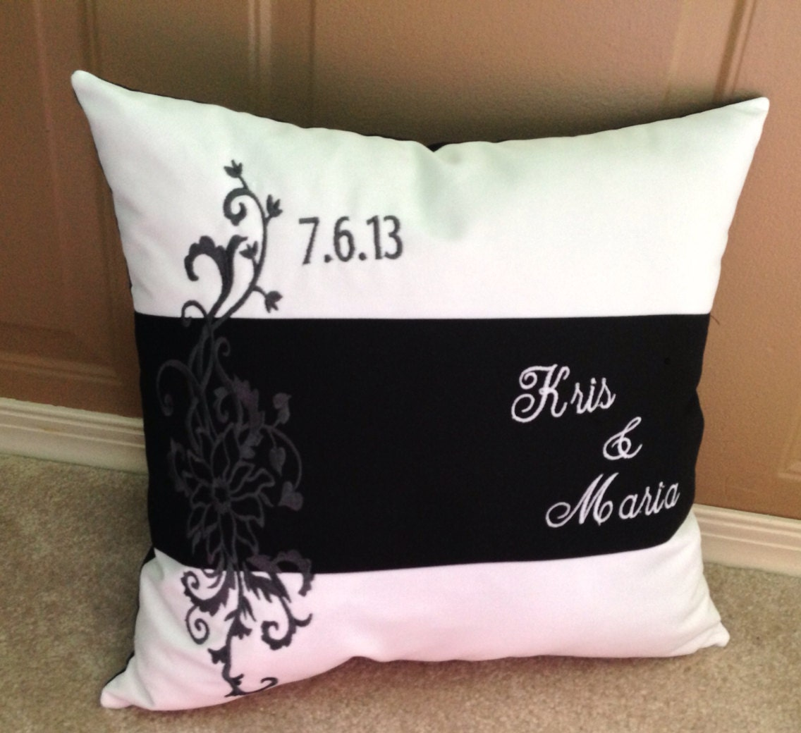 Personalized Pillows For Wedding Gift: Unique Customizable Wedding Gift Pillow Personalized