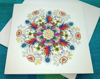 Leafy Mandala Card