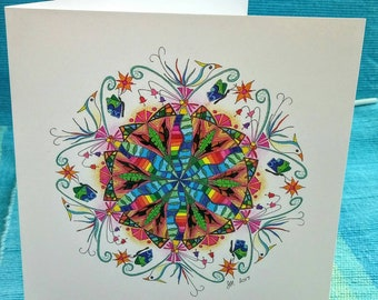 Tropical Mandala Greetings Card