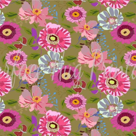 Pivoine DAISY Écharpe Vert Menthe Floral Jardin Fleurs été Printemps écharpes