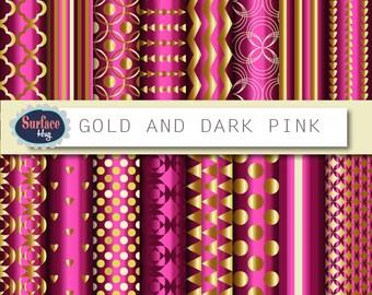 Gold background, Gold paper, Instant download, Metallic gold paper, Metallic gold, Gold foil digital, Gold quatrefoil, gold foil