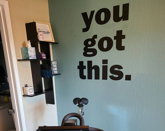 Home Gym Ideas, Gym Wall Decor Ideas, YOU GOT THIS. Fitness Wall Decal. Work Out Room Design Ideas