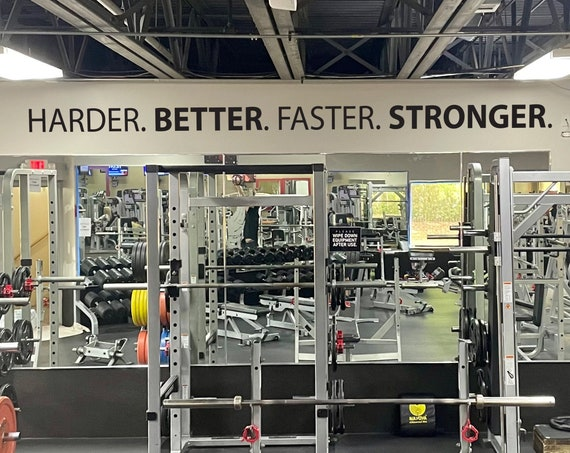 Harder. BETTER. Faster. STRONGER. Gym Wall Decal Idea, Gym Quote Decor, Fitness Decor, Home Gym Design Idea, Fitness Wall Decal,Wall Sticker