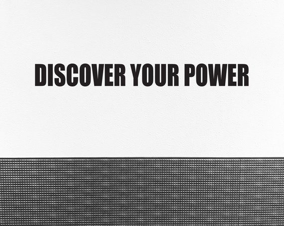 Gym Wall Decal, Fitness Wall Decal, Gym Design Ideas, DISCOVER YOUR POWER Vinyl Wall Decal