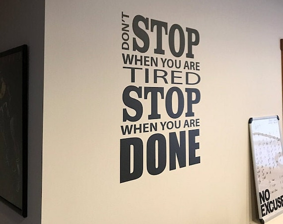Office Sign, Office Wall Decor, Gym Wall Decal, Inspirational Quote Decal, Classroom Wall Art, Classroom Sign, Fitness Wall Decal