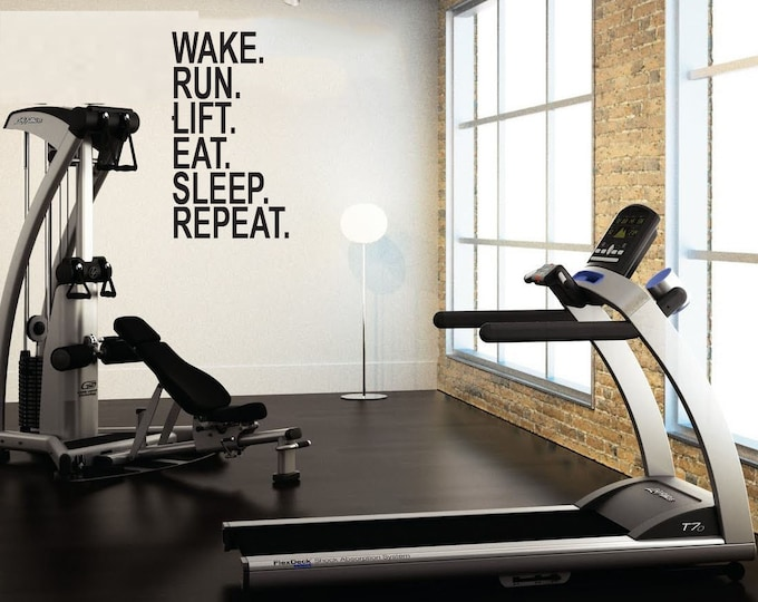 Gym wall decals by jandicographix