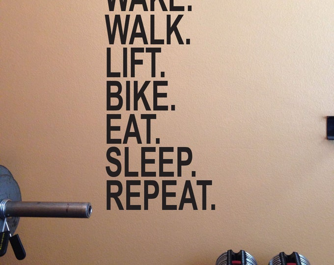 Gym decor gym wall decals and more by jandicographix