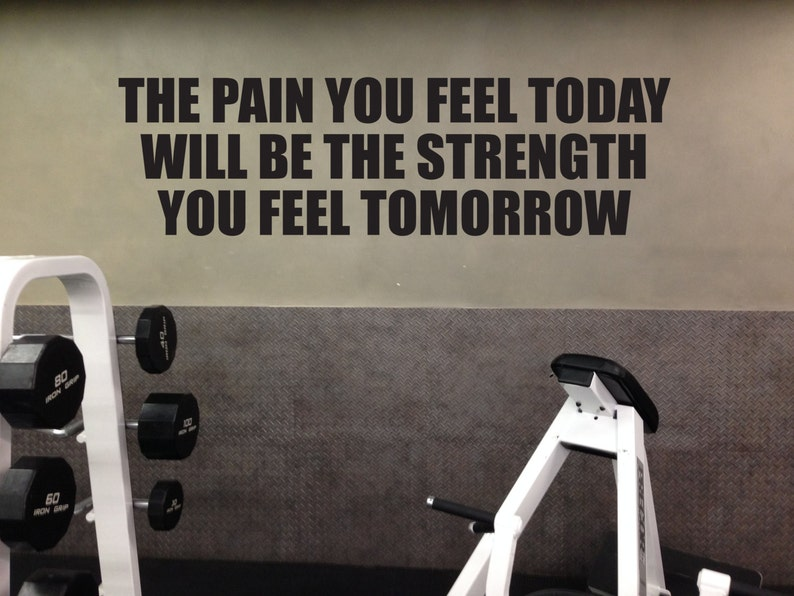Inspirational fitness quote home wall decal gym motivation etsy