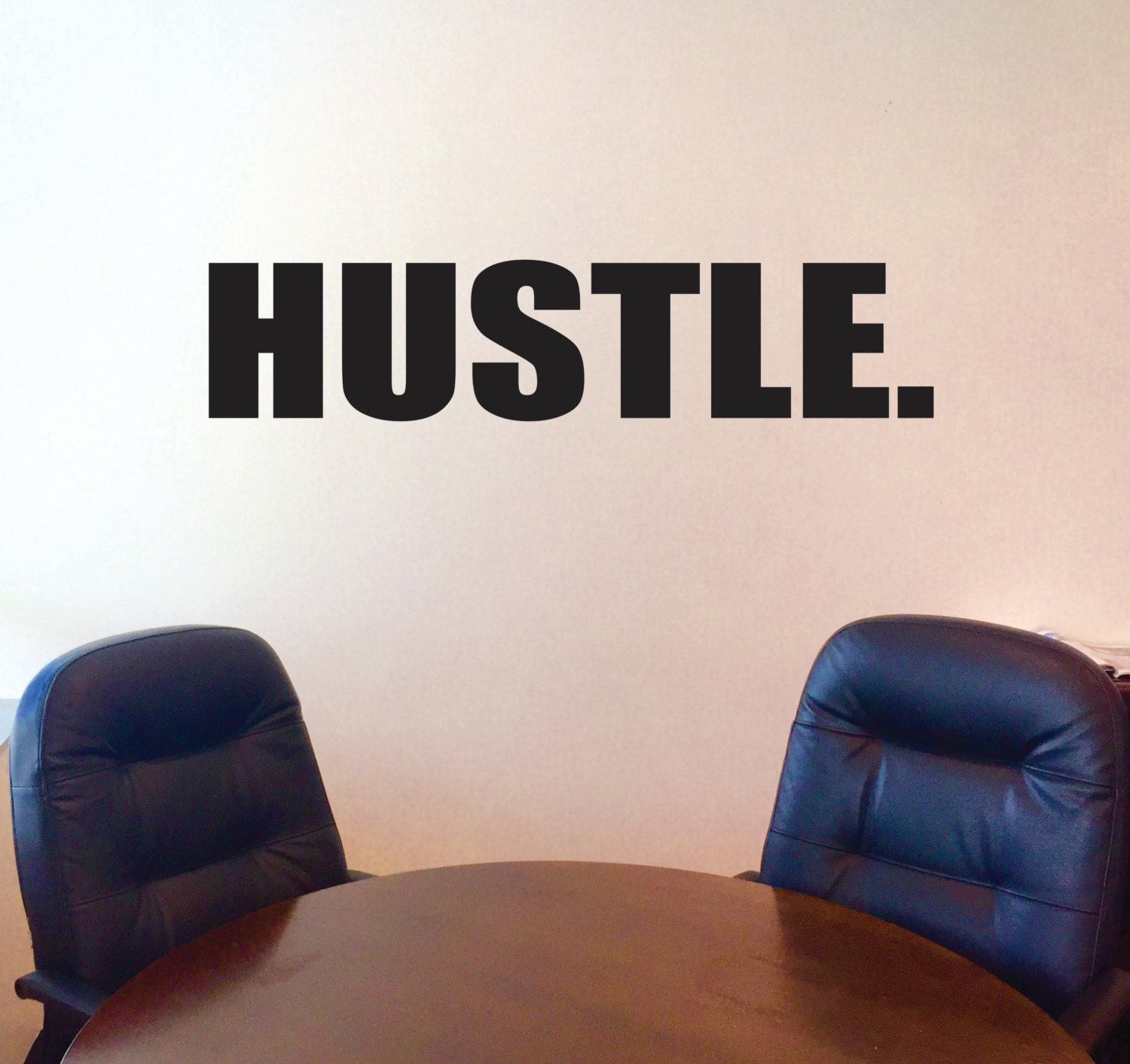 Hustle Wall Decal, Motivational Wall Decal, Inspirational Wall Decal, Office  Wall Decor