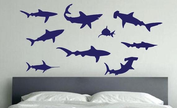 Shark Wall Decal, Ocean Life Wall Decal, Ocean Themed Kids Room