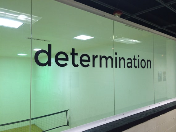 Wall Decal Motivation, Determination Wall Decal