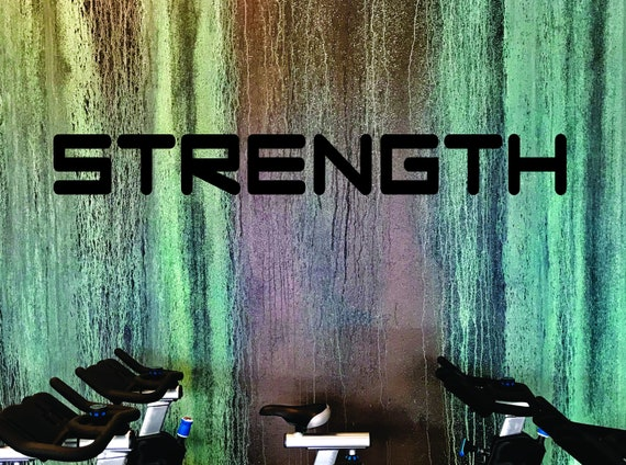 GYM WALL QUOTES, Strength Wall Decal, Home Gym Design, Office Wall Decal
