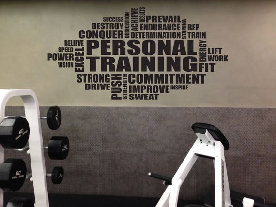 PERSONAL TRAINING Wall Cloud Decal, Gym Sign, Trainer Sign, Gym Advertising Sign