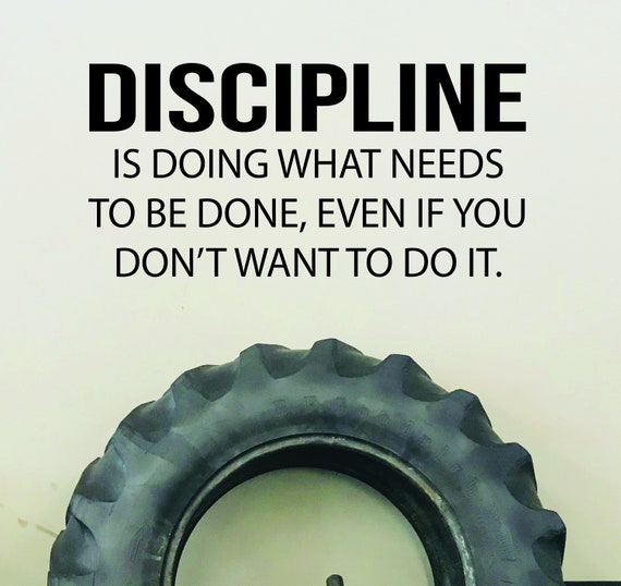 GYM Wall Decal, Office Wall Decal, Personal Trainer Wall Decal, Physical Therapy Wall Decal, Discipline Quote Wall Decal
