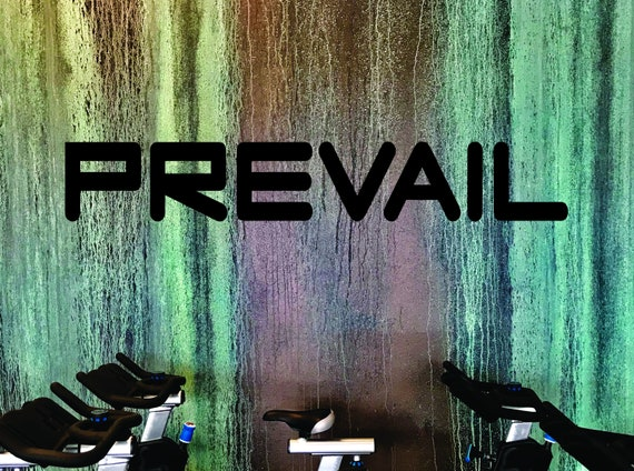 FITNESS WALL DECAL, Gym Wall Decal, Office Wall Decal, Quote Decal, Prevail Wall Sticker