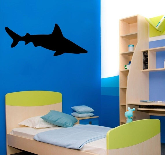 Shark Wall Art 3ft Great White Shark Wall Decor Vinyl Decal Sticker, item#57