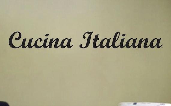 "Cucina Italiana, Italian Kitchen Vinyl Wall Art Decal Sticker. 5""x36"""