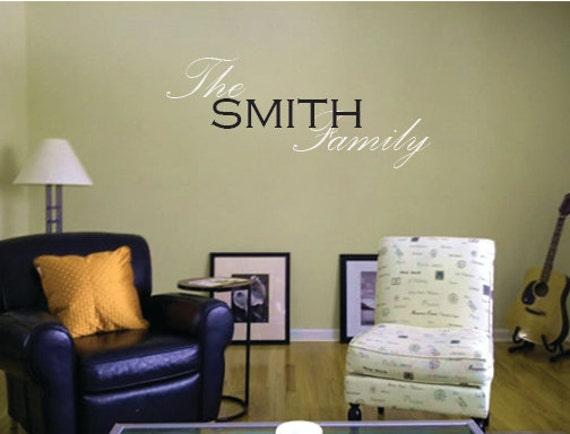 "Family Last Name Vinyl Wall Art Decal 16"" x 48"""