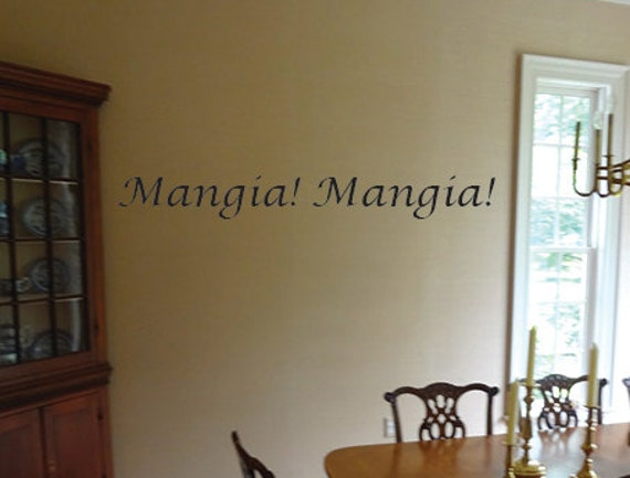 Mangia Mangia Wall Art Vinyl Decal. item#22