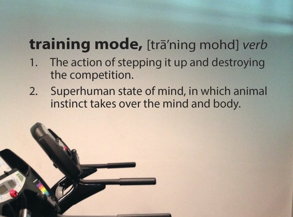 Gym Wall Decal, Training Mode Defintion