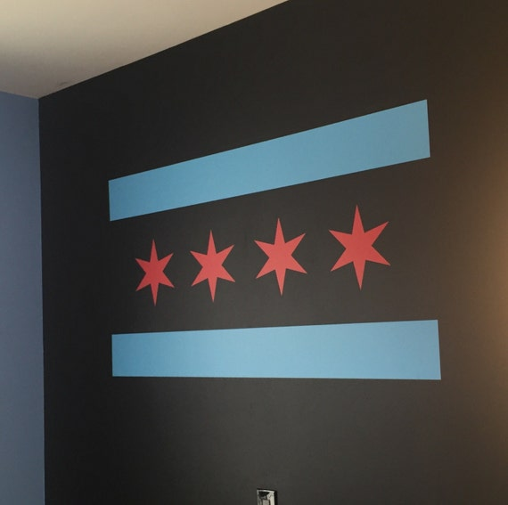 Chicago Flag sticker, chicago sports, chicago decor