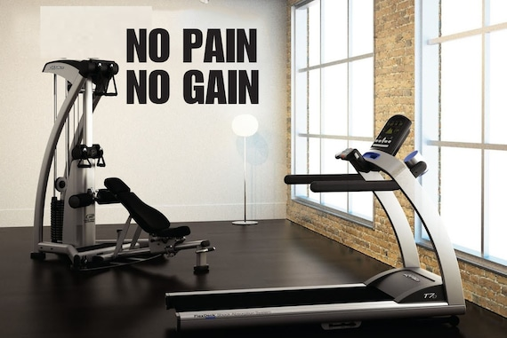 No Pain No Gain,  Wall Decor Vinyl Decal Gym Workout Motivation Quote item#82