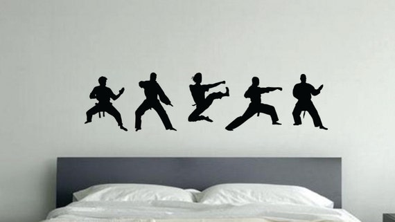 Karate Silhouettes Kids Wall Decal