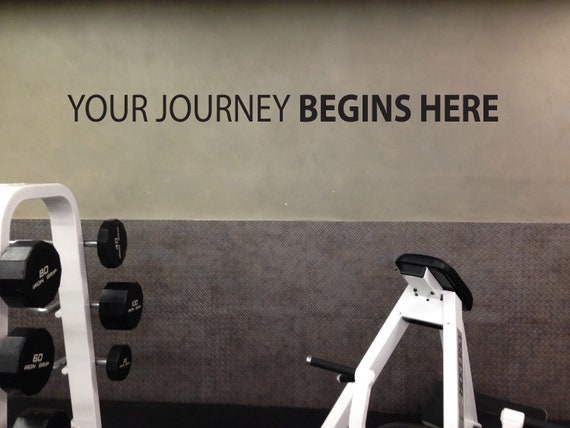Your Journey BEGINS HERE Wall Decal, Gym Wall Decal, Physical Therapist Wall Decal, Office Wall Sign, Classroom Decor Idea