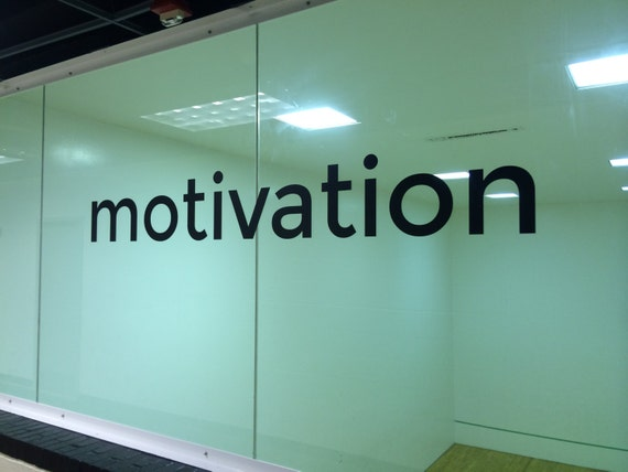 Sports Motivation Vinyl Wall Decal. Motivation typography word decal.
