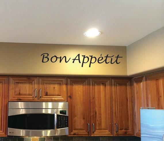 Kitchen Decorating Ideas, Kitchen Wall Decor, Bon Appetit Vinyl Wall Decal