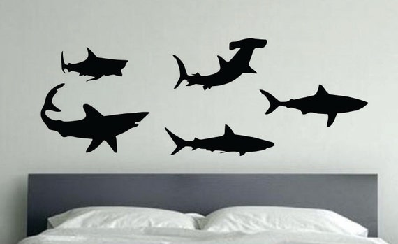 Sharks Wall Decals, Kids Room Decor