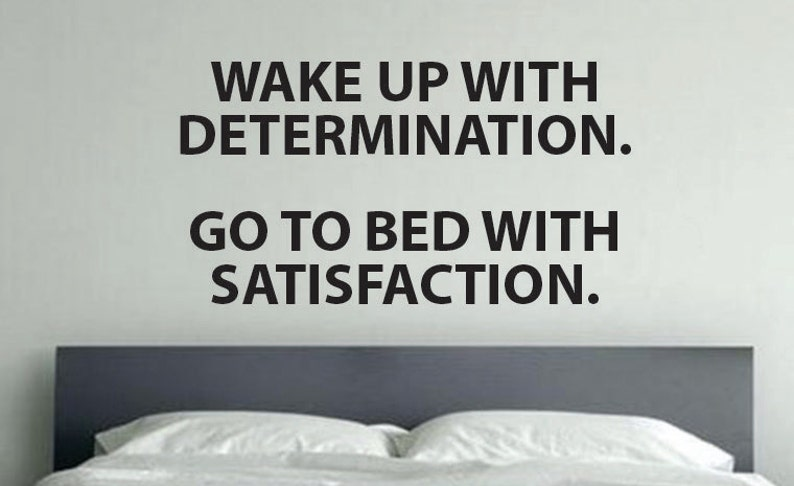 Motivational Quote Gym Decal Wake Up With Determination Go Etsy