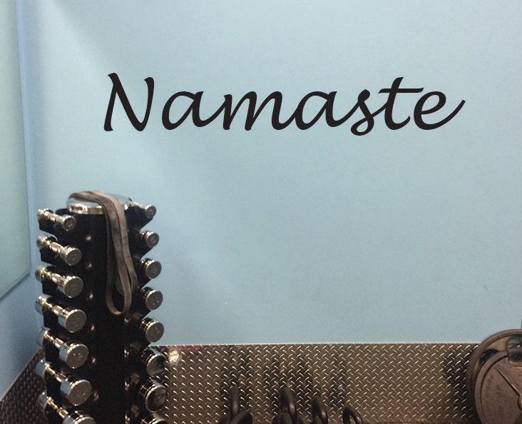 Yoga Wall Decal, Namaste Wall Decor, Wall Decal