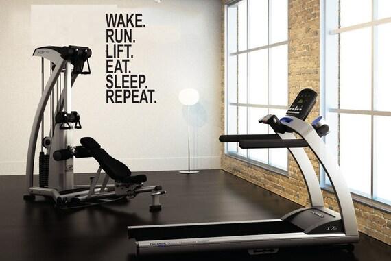 Eat Sleep Lift Bodybuilder Vinyl Window Decal Sticker Vinyl Workout Exercise Gym