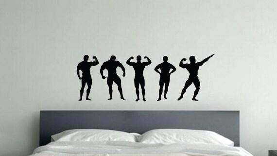Gym Wall Art, Flexing Body Builder Gym Wall Decal
