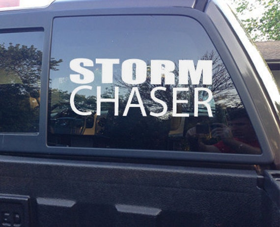 STORM CHASER. Vinyl Car Decal. Truck Decal
