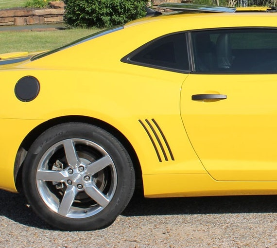 Chevy Camaro Side Thick Gill Vent Vinyl Decal Inlays, Works for 2011 2012 2013, 46