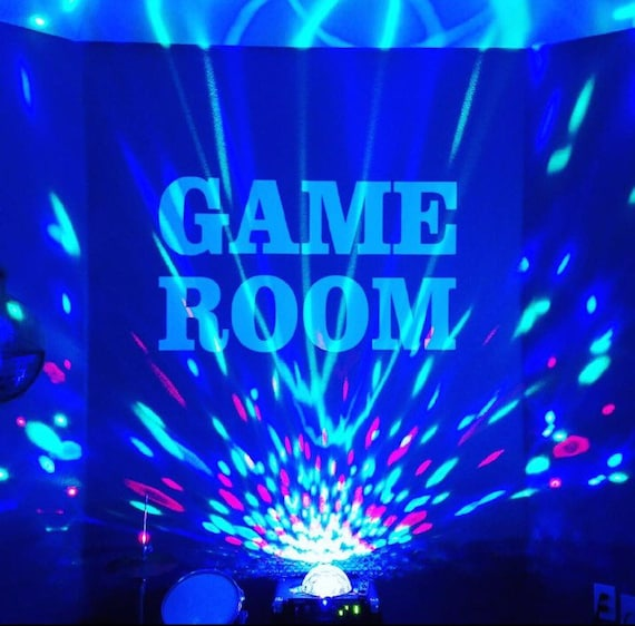 Wall decal for Game Room. Recreation Room Basement Design Ideas, kids game room