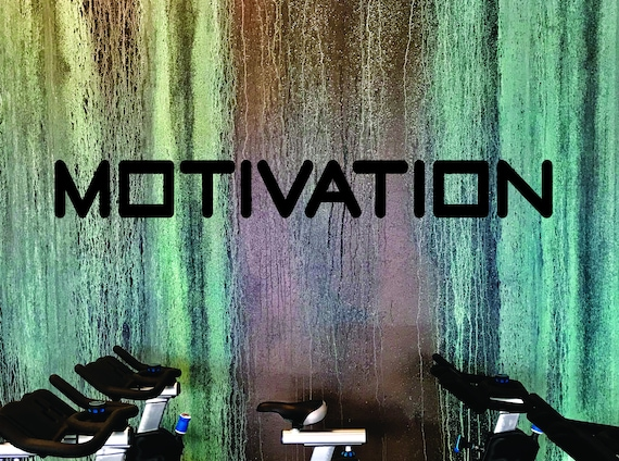 Wall Decor for Gym, Wall Decal for Classroom, Office Decor, Gym Design Ideas, MOTIVATION Wall Decal