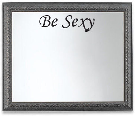 "Be Sexy, Wall Mirror Decor Vinyl Decal Workout Motivation Quote 5""x18"", item#97"