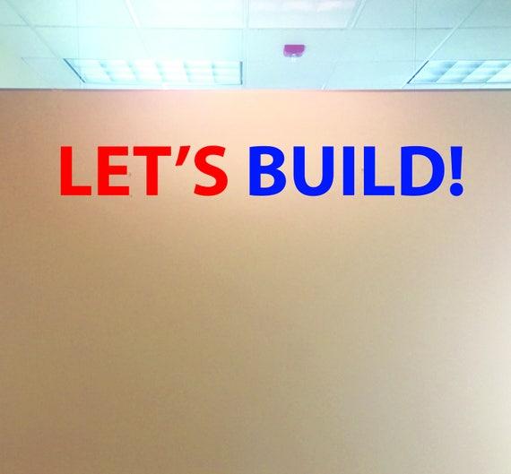 Classroom Wall Decor, Work Hard. Be Nice. Classroom Wall Decal