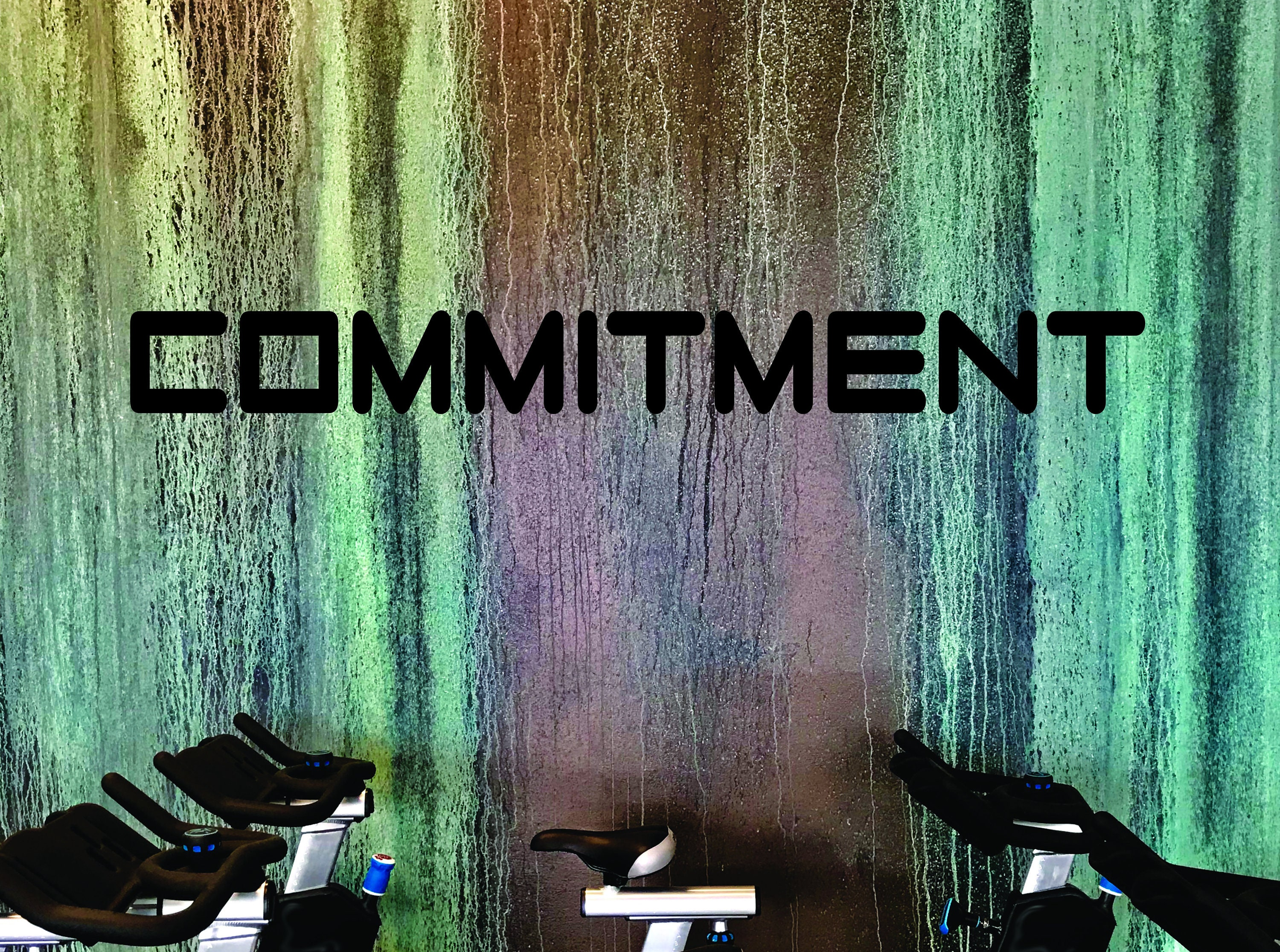 Fitness wall art commitment wall decal home gym design
