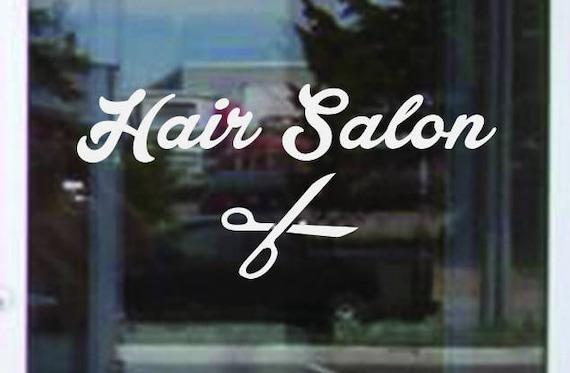 Business Window Decal, Hair Salon Window Decal, Hair Salon Decor, Hair Dresser Advertising